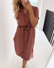 Dalion shirt dress mahogany