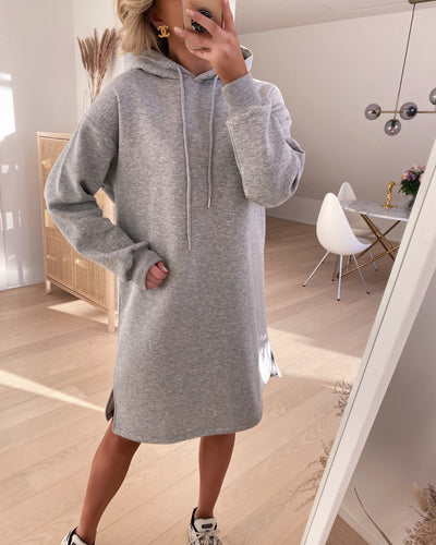 Peva hoodie dress l. grey mel