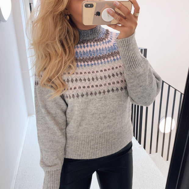 Ice knit pullover