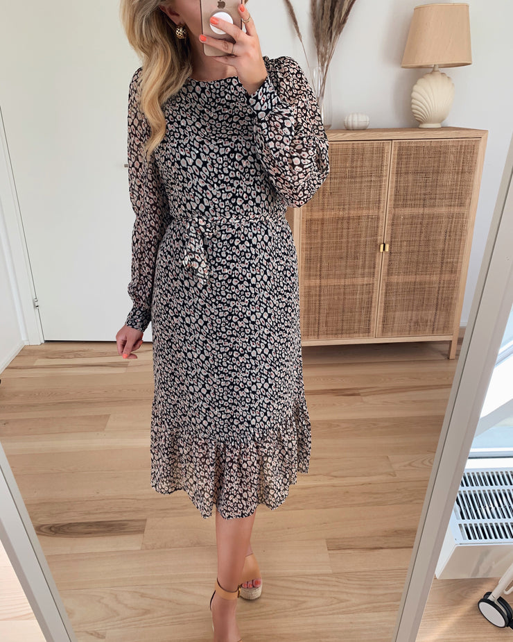 Jidaline long dress leopard