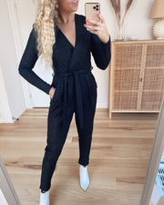 Greb jumpsuit black/silver