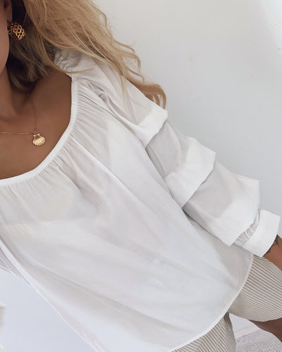 Madrina long sleeved blouse white