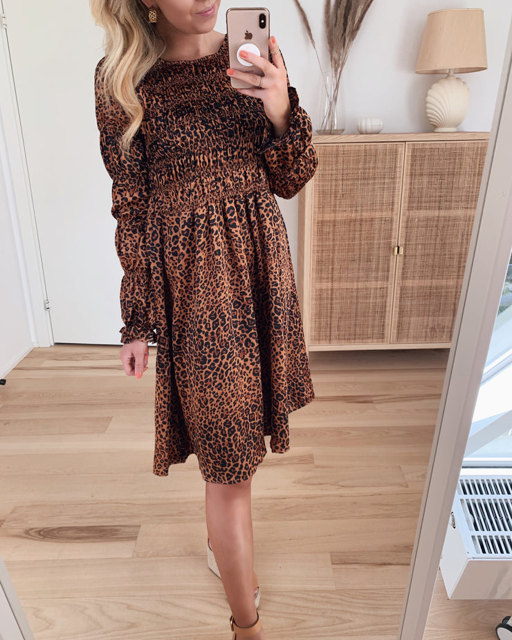 Julie ls dress leopard