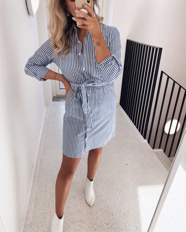 Elbe shirtdress blue/white