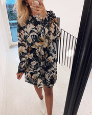 Noki dress black/flower