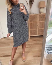 Vaida ls dress black/cream heart
