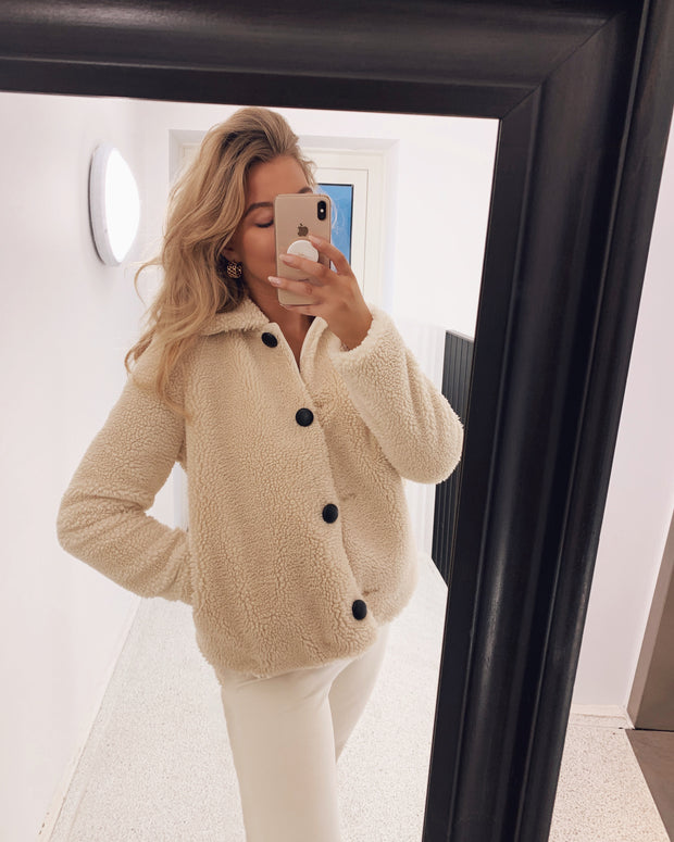 Lulu teddy short jacket cream