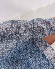 Noki dress dusty blue/flower