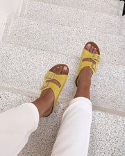 Twin strap sandal yellow