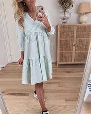 Tram midi dress blue surf