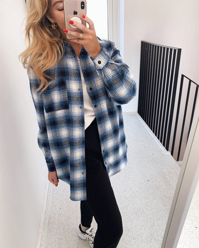 Ellie shirt blue check