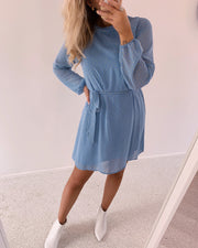 Elos dress blue/lemon