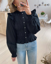 Vinni ls smock top black