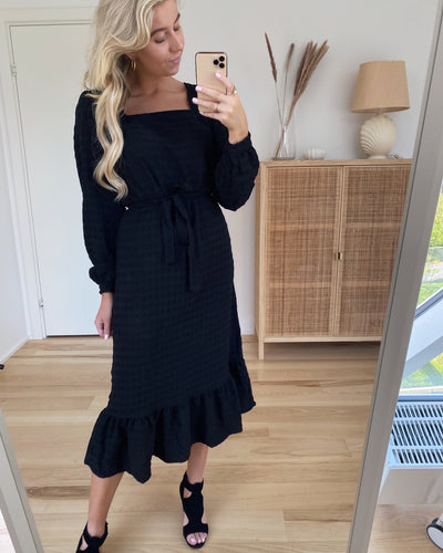 Kuma ls midi dress black