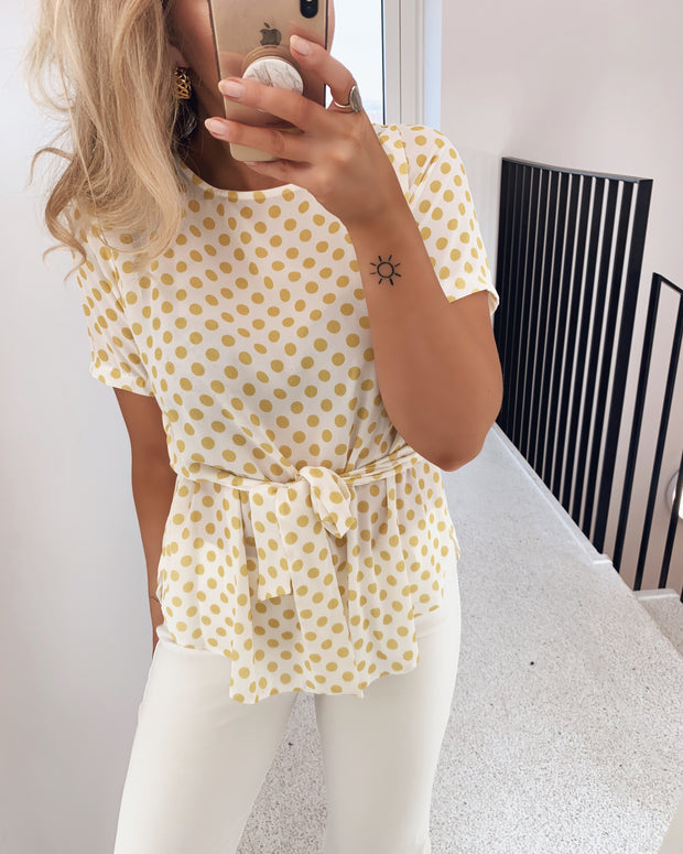 Lucy blouse cream/yellow