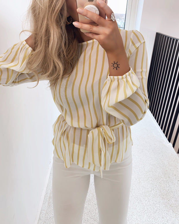 Lucy long sleeved striped shirt yellow