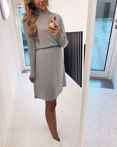 Vini dress t light grey melange