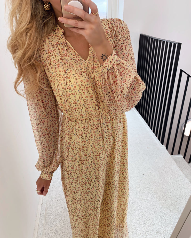 Molly ls ankle dress pale banana