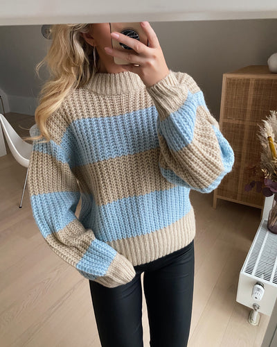 Lilja pullover bamboo/light blue