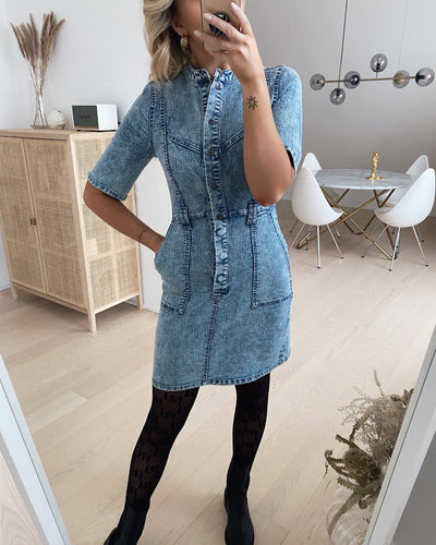 Amy s/s cutline denim dress