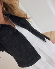 Debra ls denim jacket black