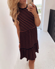 Norli dress black/rust