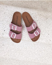 Julia leather sandal opera mauve