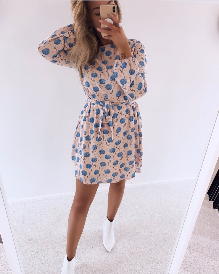 Lucy flower dress rose/blue