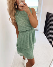 Nicoline dress light green/cream
