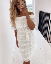 Given dress white