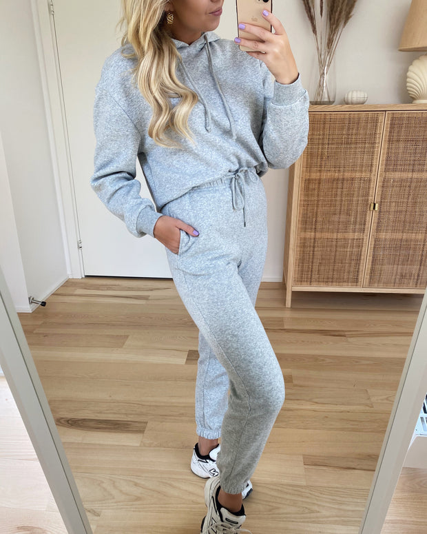 Chilli high waist sweat pants light grey melange - FORUDBESTILLING