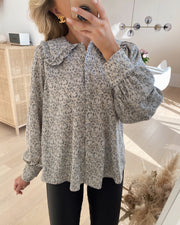 Vassa shirt grey/flower