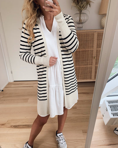 Dava ls long knit cardigan