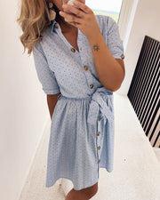 Nutti shirtdress denim/dots