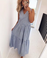 Embra blue/white maxidress