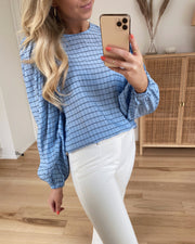 Tilla blouse blue bell check
