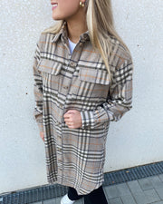 Stine long shirt beige