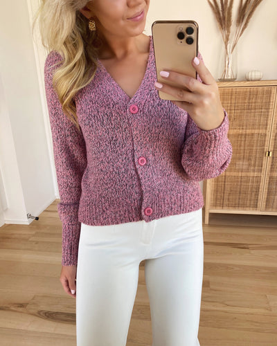 Lisajive ls balloon cardigan wild rose