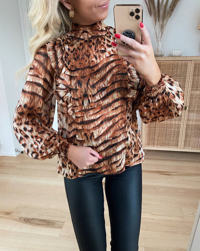 Love544 blouse tiger lurex