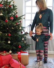 Alma top green xmas kids - FORUDBESTILLING