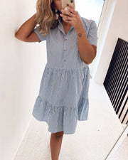 Adel shirtdress blue/white