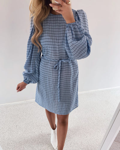 Tilla dress blue bell check