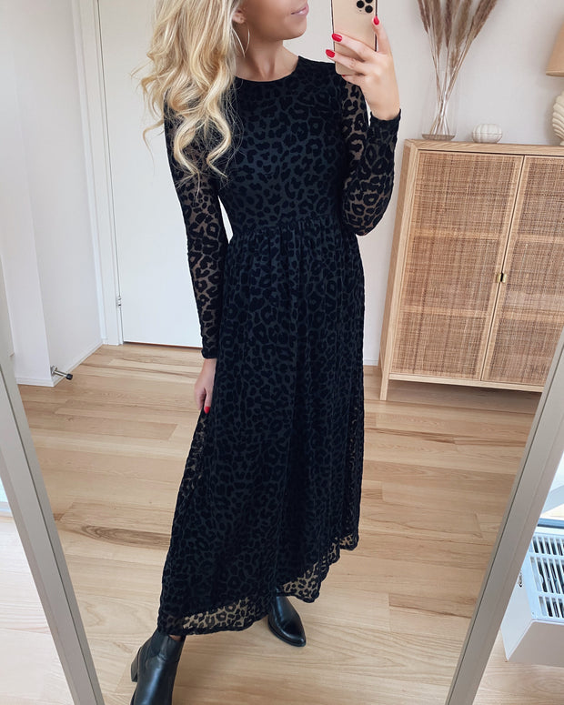 Gia dress black/black leo