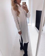 Vanni long shirtdress white