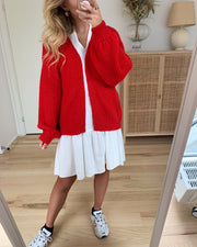 Maby ls open cardigan goji berry