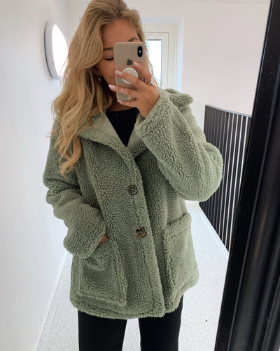 Erica teddy jacket green