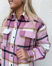 Eira shirt flamingo check
