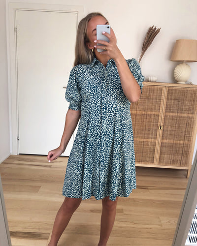 Lissy Shirt Dress Deep Lagoon