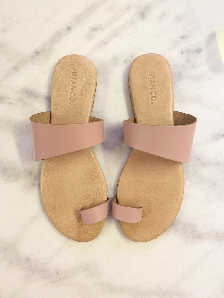 Tåløkke leather sandal rose