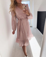 Amisa short dress adobe rose